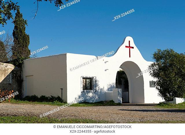 Puig de missa cemetery, Santa Eulalia, Ibiza, Balearic Islands, Spain, Mediterranean, Europe
