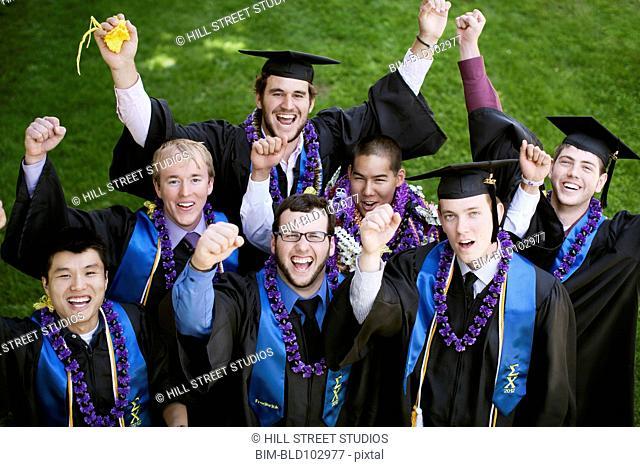 Cheering college graduates