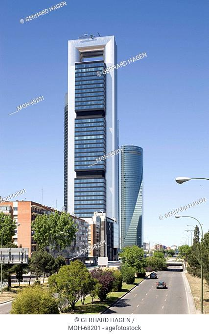 Torre Caja Madrid ehemals Repsol Tower, der Torre de Cristal, der Torre Sacyr Vallehermoso und der Torre Espacio