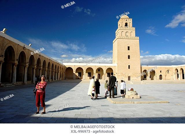 Great Mosque or Sidi Oqba Mosque, Kairouan, Tunisia