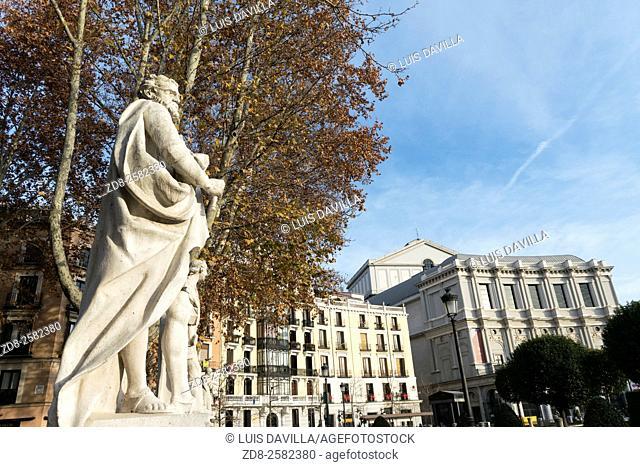 Opera House in the Plaza de Oriente, madrid. spain