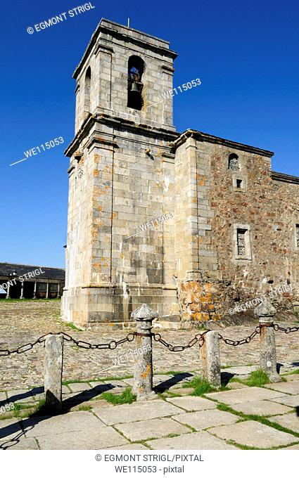 Europe, Spain, Castile and Leon, Castilla y Leon, Sierra de Francia, small chapel at monastery on Pena de Francia mountain on the St James way public ground
