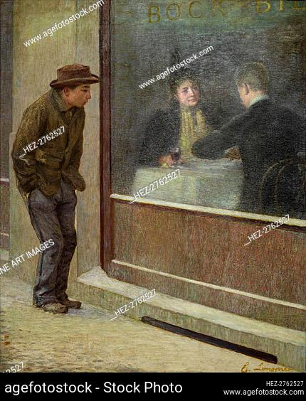 Reflections of a Hungry Man or Social Contrasts, 1894. Creator: Longoni, Emilio (1859-1932)