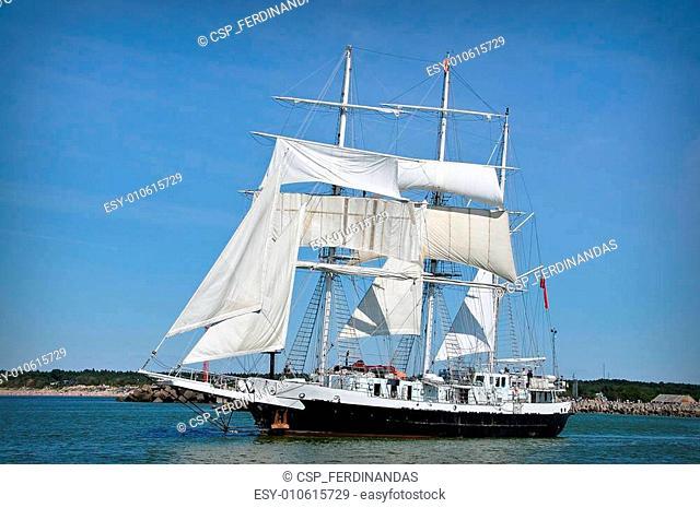 sailboat on full sails
