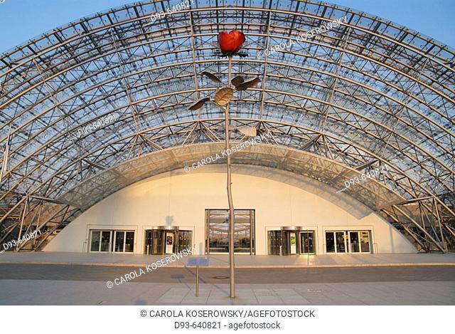 Germany, Saxony, Leipzig. New Leipzig Fair, Glass Hall