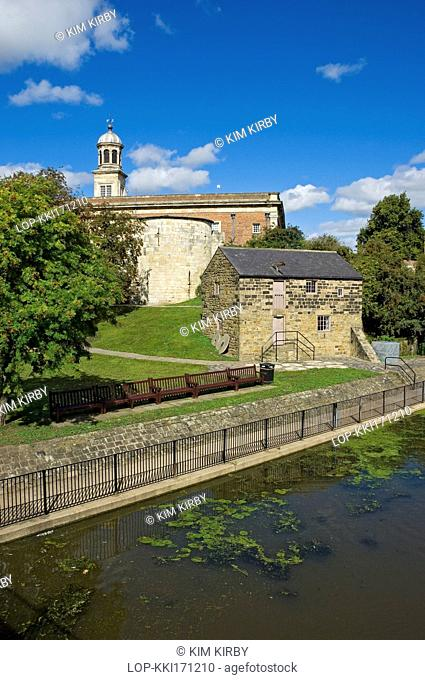 England, North Yorkshire, York. Raindale Mill, a reconstructed flour mill that was moved from the North York Moors to York Castle Museum