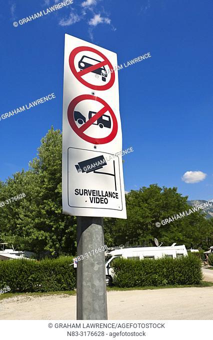 Signpost, Lac du Bourget, Signpost, France, Europe