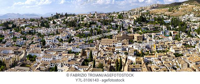 El Albayzin from the Alhambra, Granada, Spain