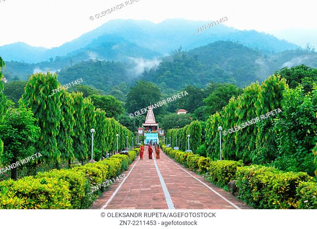 Swarg Ashram area in Rishikesh, India