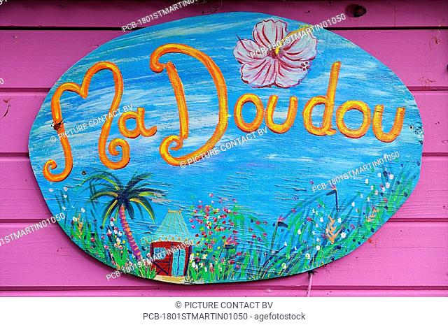 St Martin Ma doudou Rhum shop sign