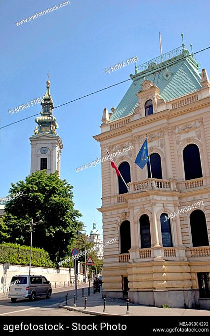 Church, Embassy, Architecture, Old Town, Belgrade, Serbia