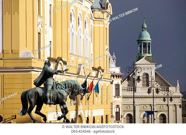 Szechenyi ter Square. Town Hall. Pecs. Southern Transdanubia. Hungary. 2004
