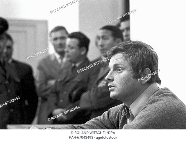 Student leader Daniel Cohn-Bendit was sentenced to eight months probation because of amongst others civil disorder on 27 September 1968 in Frankfurt