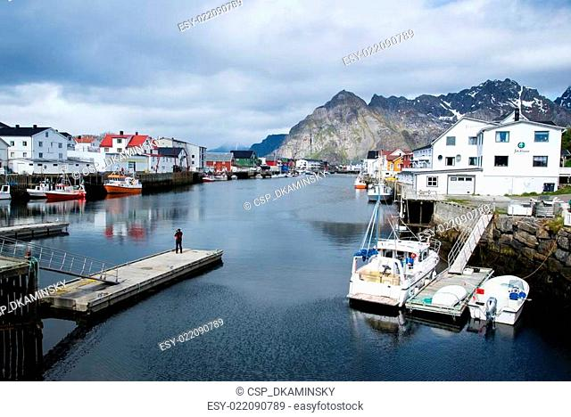 port city on Lofoten Islands