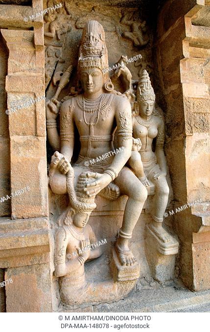 11th century Saraswati statue in Brihadishvara temple ; Gangaikonda Cholapuram ; Tamil Nadu ; India