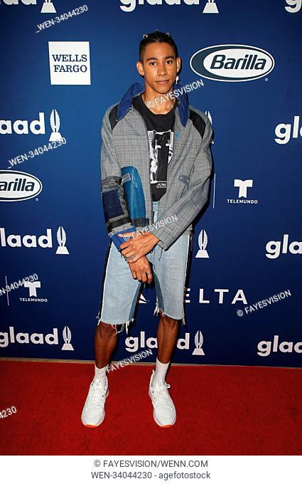 GLAAD's 2018 Rising Stars Luncheon Featuring: Keiynan Lonsdale Where: Beverly Hills, California, United States When: 11 Apr 2018 Credit: FayesVision/WENN