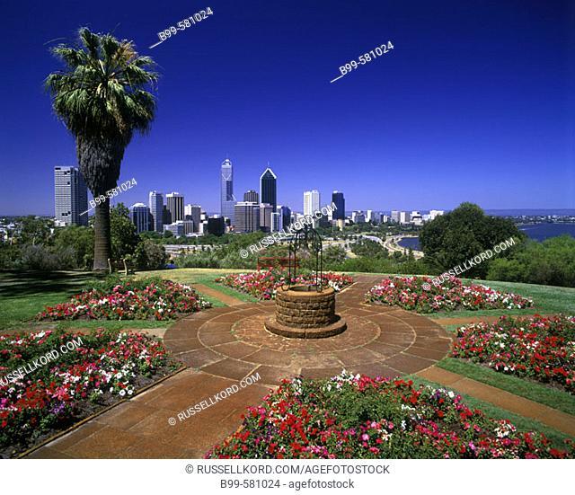 King's Park, Downtown Skyline, Perth, Western Australia, Australia