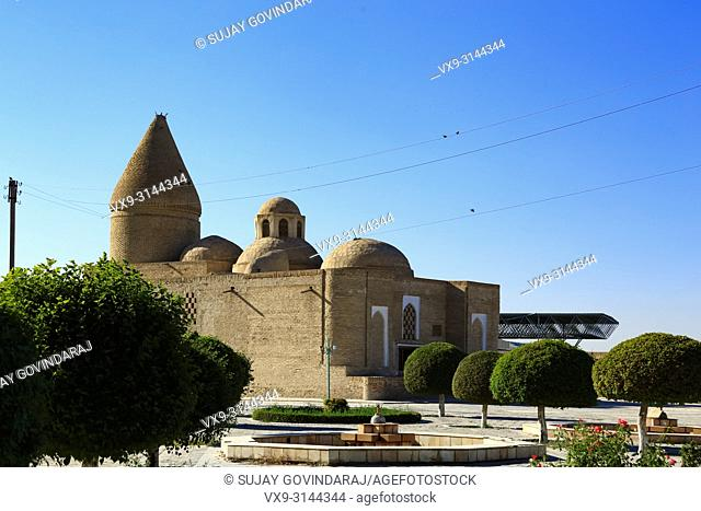 View of Chashma Ayub, an ancient heritage site that was dedicated to the Saints for their stay during their visit to Bukhara