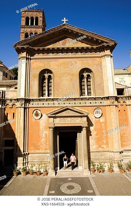 The basilica of Santa Pudenziana is a 4th century church, Rome, Italy
