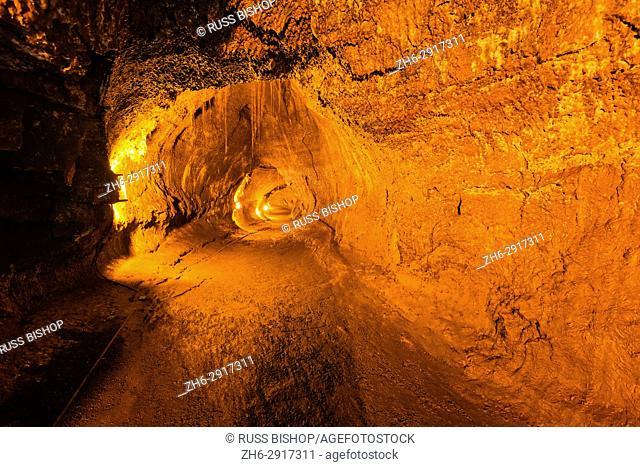 Inside the Thurston Lava Tube, Hawaii Volcanoes National Park, Hawaii USA