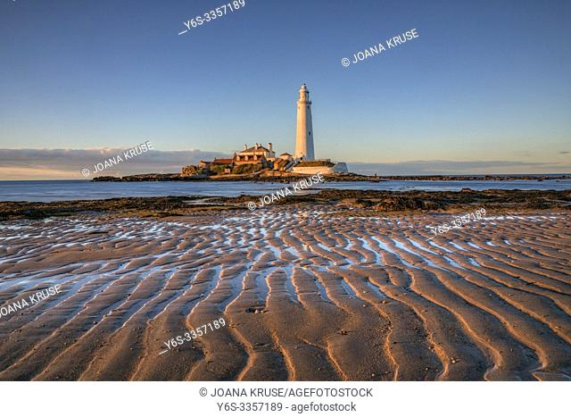 St Mary's Lighthouse, Withley, Tyne and Wear, UK, Europe