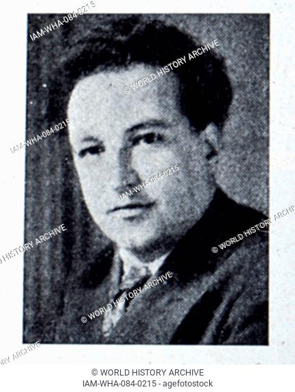 Photograph of Arthur Honegger (1892-1955) a Swiss composer and member of Les Six. Dated 20th Century