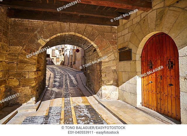 Mora de Rubielos arch in Teruel Spain located on Gudar Sierra