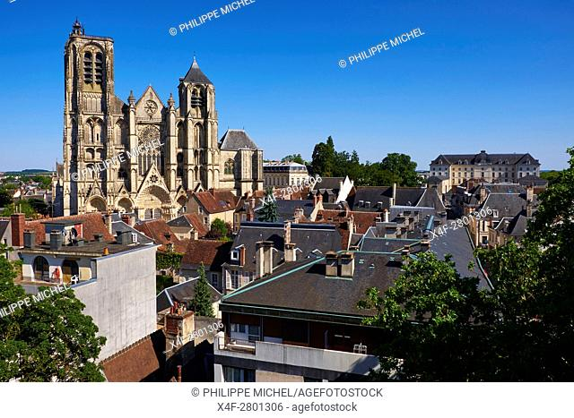 France, Cher (18), Bourges, St Etienne cathedral, UNESCO world heritage