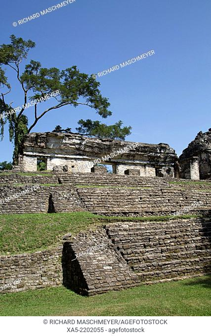 The North Group, Palenque Archaeological Park, Palenque, Chiapas, Mexico