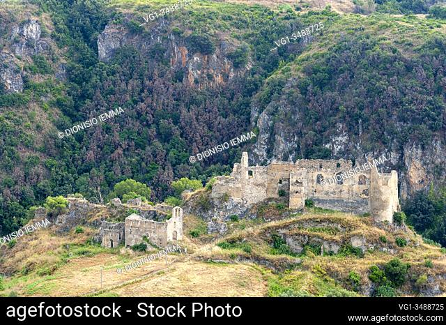 Santa Maria del Cedro, district of Cosenza, Calabria, Italy, Europe, ruins of the Norman castle of San Michele, also known as Abbatemarco Castle
