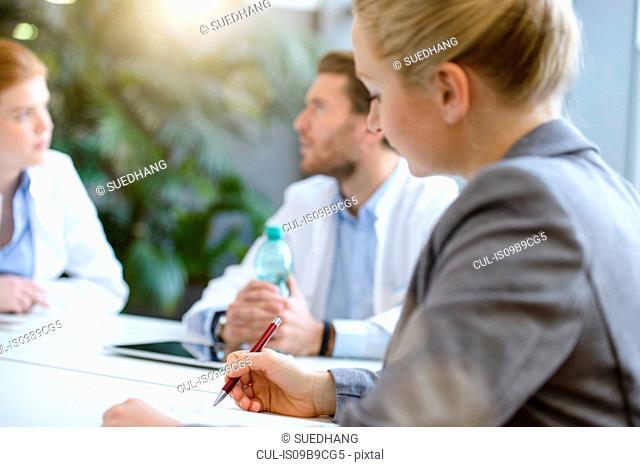 Group of doctors, having meeting