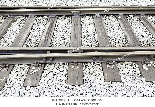 Old railroad tracks, roads for a detail of a Transport, urban transport