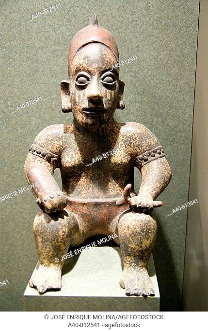 Mexico.Mexico city.National Museum of Antropology.Jalisco culture.Ceramic figure