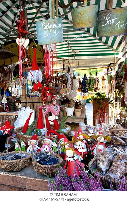 Traditional outdoor Christmas market at Viktualienmarkt in Munich, Bavaria, Germany