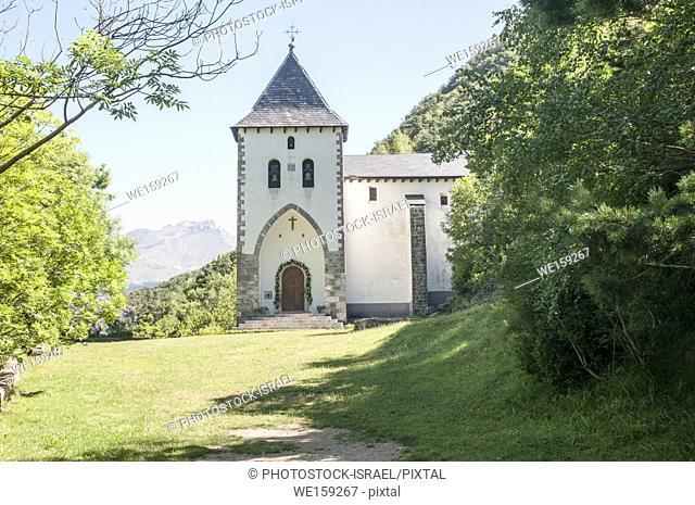 Ermita de Sta Elena at the fort of Santa Elena, Pyrenees Mountains, Huesca province, Aragon, Spain