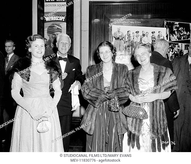 The Dam Busters (1955) Film Premiere at the Empire Cinema in Leicester Square London. (Strictly editorial use only. Television and book cover use must be...