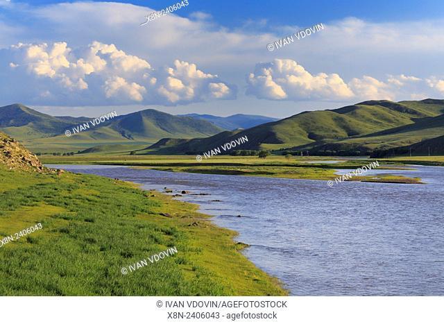 Orkhon river, Bulgan province, Mongolia