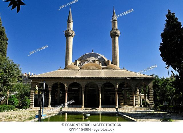 Courtyard of the osman Tekkiye Sulaiman Mosque at Damascus, Unesco World Heritage Site, Syria, Middle East, West Asia