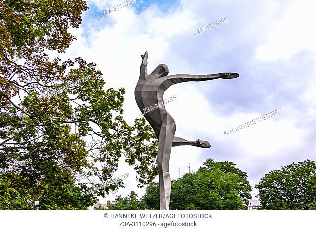 A statue of Maris Leipa a celebrated Latvian ballet dancer. , located at the National Opera in Riga, Latvia, Baltic States