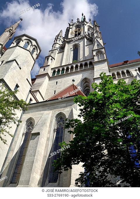 St Paul church in Munich. Germany. Europe