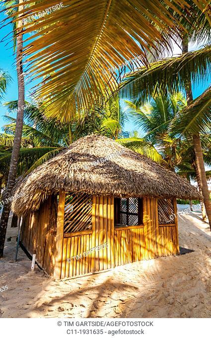 beach hut, Riu Palace, hotel, Punta Cana, Dominican Republic, Caribbean