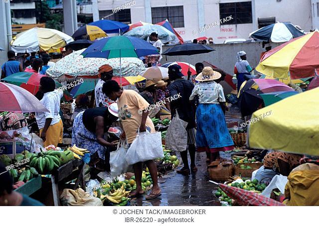 LCA, Saint Lucia: daily market near the harbour, Castries