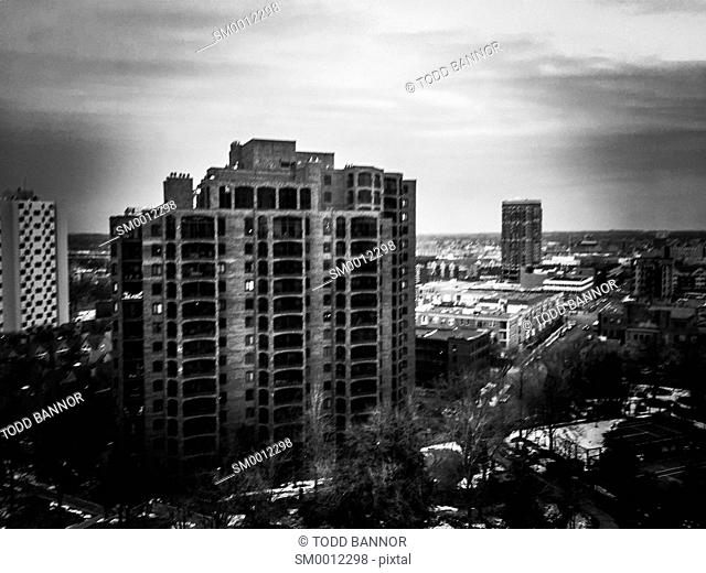 Apartment buildings. Minneapolis, Minnesota