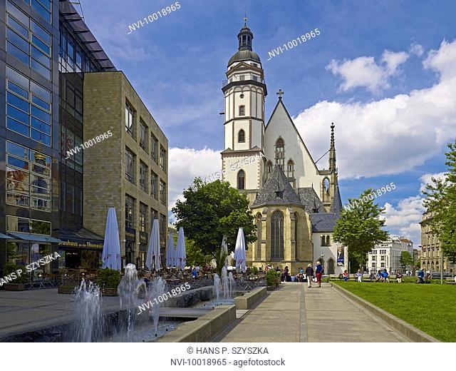 St. Thomas Church in Leipzig, Saxony, Germany, Europe