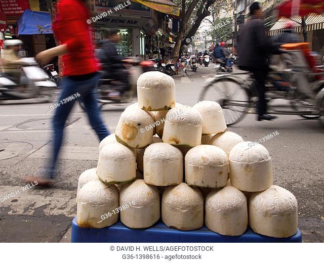Street food stall in Hanoi, Vietnam