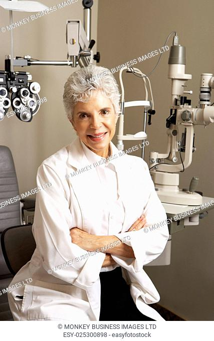 Portrait Of Female Optician In Surgery