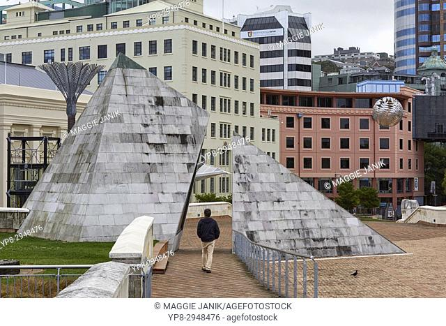 City to Sea Bridge connection to the Civic Plaza, Wellington, New Zealand