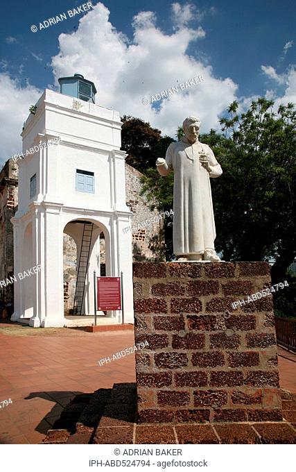Malaysia Malacca (Also spelt Melaka) The ruins of St. Paul's Church