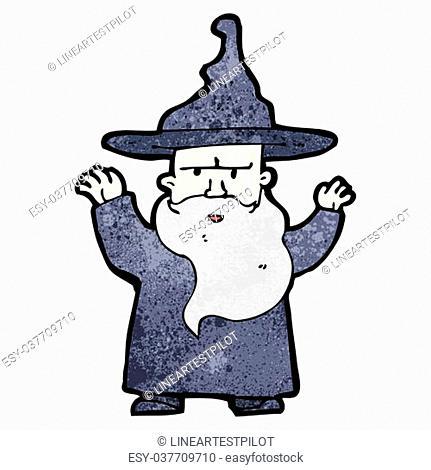 cartoon wizard casting spell