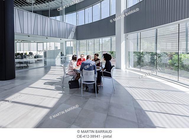 Business people meeting in modern office